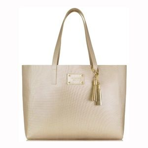 Gold Tassle Carry All Tote